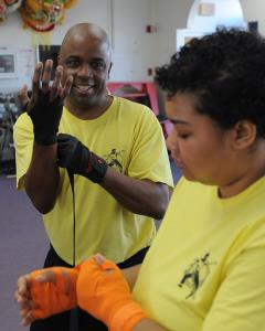 Kickboxing Wrapping Hands