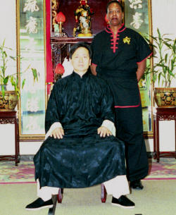 Sifu Tai Yim with 9th Generation Master, Vicky Miller