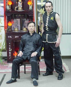 Sifu Tai Yim with 9th Generation Master, Lihn Vien Thai