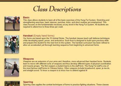 Class Description - Page 1